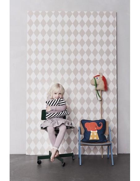 Tapeta Ferm Living w romby Harlequin Rose + KLEJ