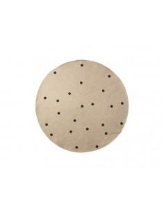 Okrągły dywanik Ferm Living z juty w kropki Black Dots