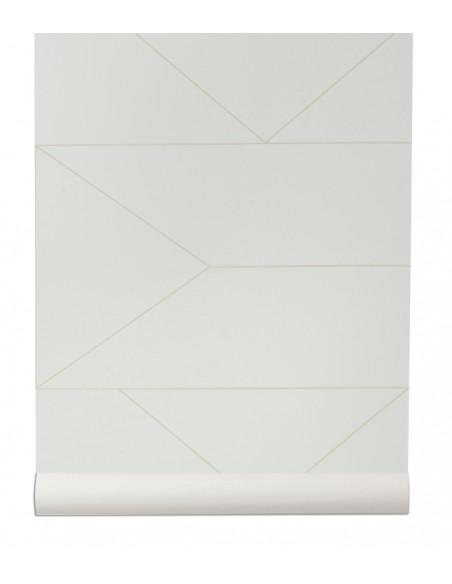 Tapeta w linie Ferm Living Lines off white + KLEJ