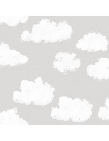 Szara tapeta w chmurki Puck & Rose