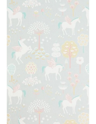 Tapeta Majvillan True Unicorns grey jednorożce KLEJ