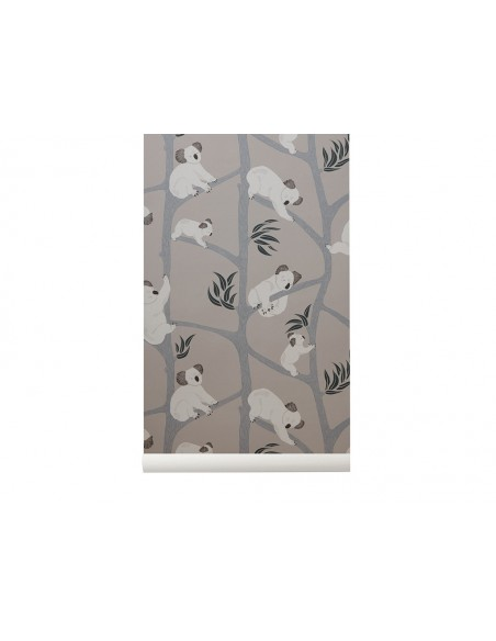 Tapeta Ferm Living Koala - Grey + KLEJ