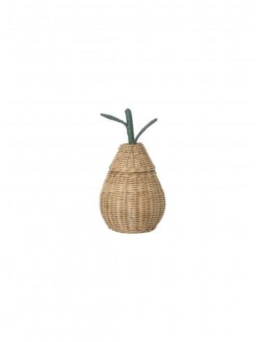Pleciony pojemnik gruszka mały Ferm Living Pear