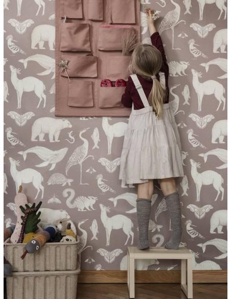 Tapeta Ferm Living Animals - Dusty Rose + KLEJ