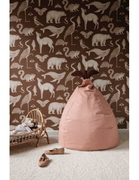 Tapeta Ferm Living Animals - Toffee + KLEJ