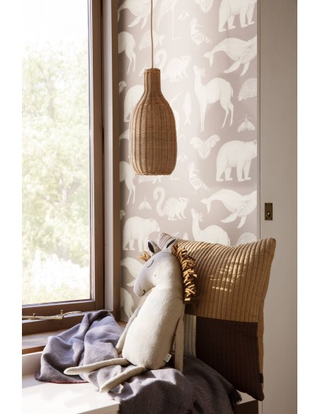 Tapeta Ferm Living Animals - Sand + KLEJ