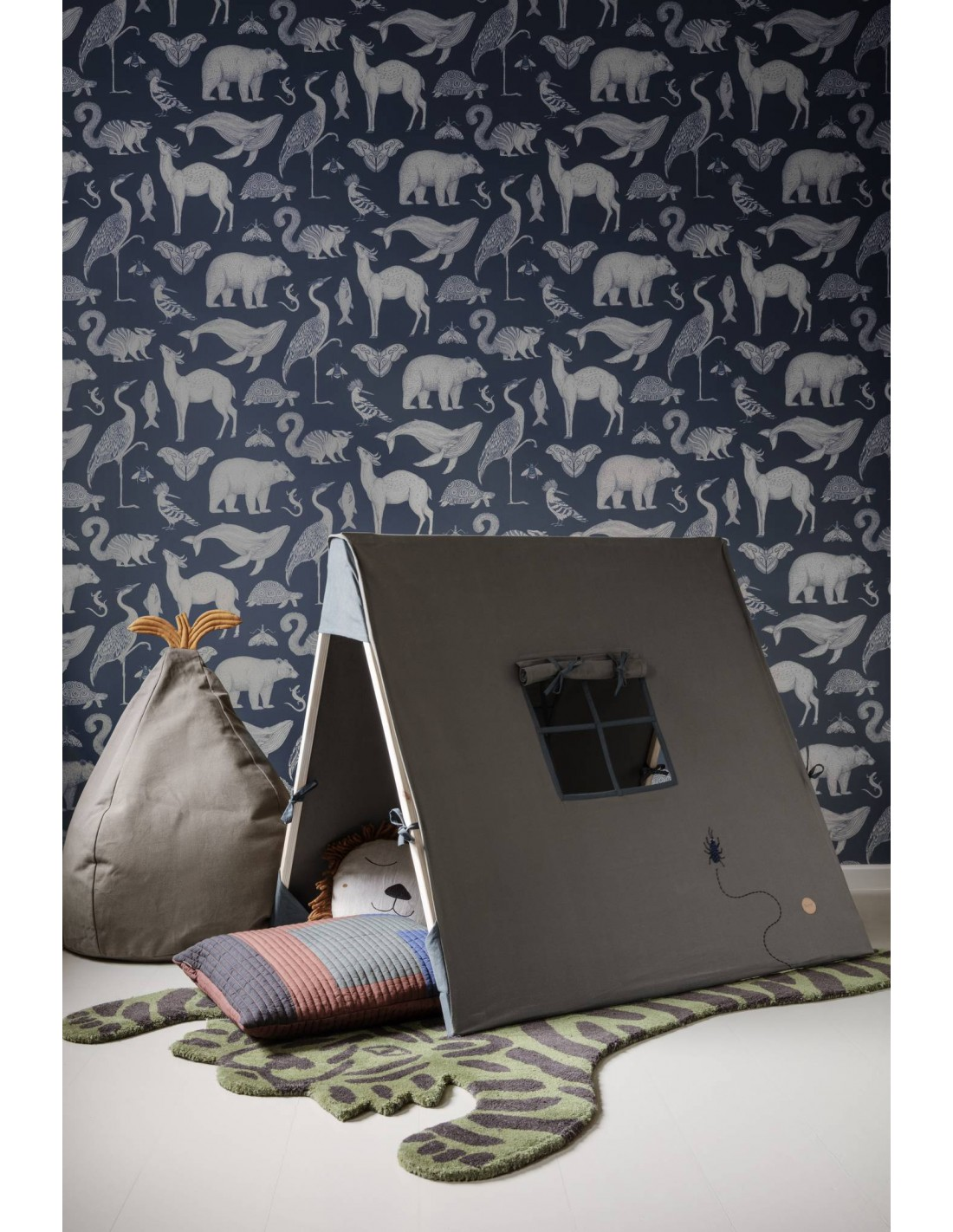 Katie Scott Wallpaper Animal Blue