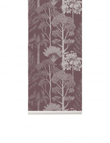 Tapeta Ferm Living Trees - Mahogany drzewa Katie Scott + KLEJ