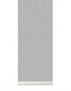 Tapeta Ferm Living Dots Grey szara kropki  + KLEJ