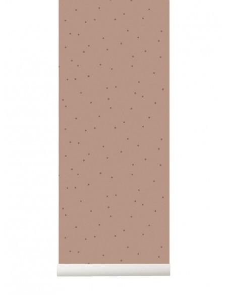 Tapeta Ferm Living Dots kropki różana Dusty Rose  + KLEJ