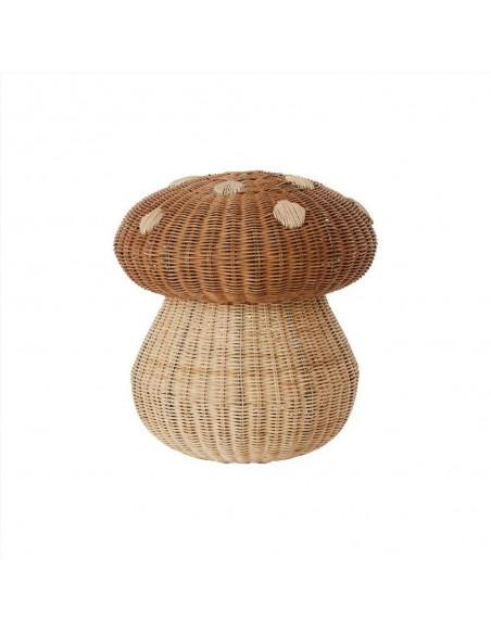 Pleciony pojemnik grzybek Mushroom OYOY