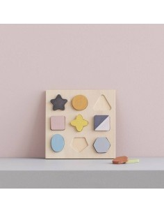 Drewniane puzzle kształty Geo Kids Concept