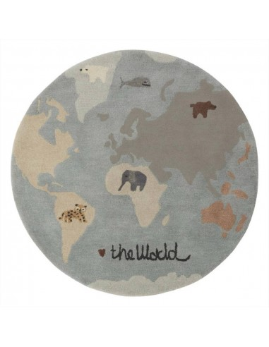Wełniany dywan OYOY Mapa świata The World Tufted Rug