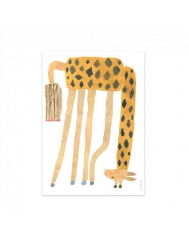 Plakat OYOY z żyrafą Noah Giraffe Upside Down