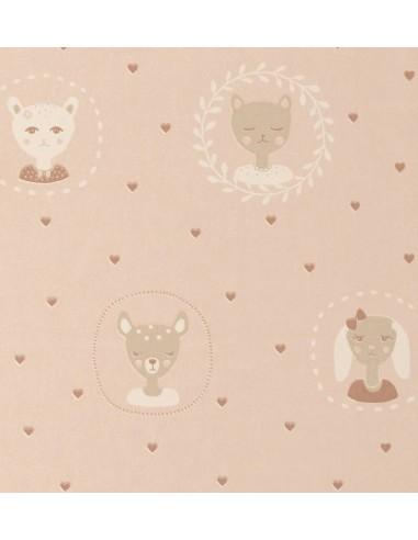 Tapeta Majvillan 148-01 HEARTS dusty warm pink