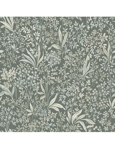 Tapeta Boras NOCTURNE 7270 Graceful Stories zielona w białe listki