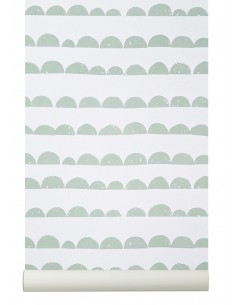 Tapeta Ferm Living Half Moon Mint + KLEJ